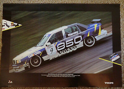 wonderful beauty-poster VOLVO 850 TURBO BTCC #9 1995 - ltd.ed. - 70x100cm