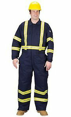 Lakeland Flame Resistant Cotton Insulated Coveralls Reflective Trim Size XL