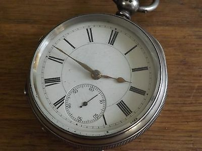 Manchester Antique Solid Sterling Silver Movus Cohen Gents Pocket Watch