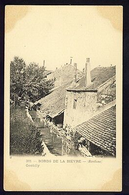 Carte Postale Ancienne RARE 94 - GENTILLY Bords de la BIÈVRE (Banlieue) LAVOIRS