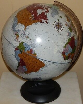"REPLOGLE 12"" Diameter Globe / Platinum Classic Series Raised Relief  Made USA"