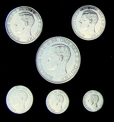 Edward VIII Set in case Crown to threepence not Silver no COA