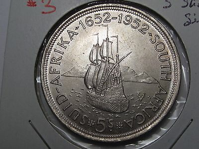 1952 Silver South African 5 Shilling.  #3