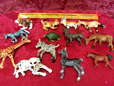 Mixed Lot of Plastic/ Rubber Animals .Some labeled Schleich, Safari and dates
