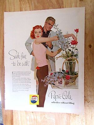 1950s Pepsi Cola Such fun to be with Vintage Print Ad