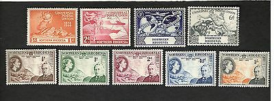 1946-53 Northern Rhodesia SC #50-58 CECIL RHODES MH stamps