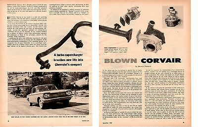 1960 Chevrolet Corvair With Turbo-Supercharger ~ Original 6-Page Article / Ad