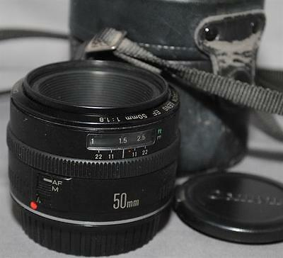 Canon EF 50mm 1:1.8 Auto Focus Lens in Case – from Japan  - JC