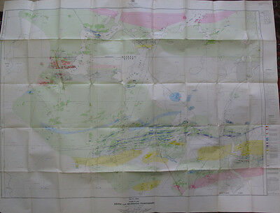 Geology Minerals Folded Map Parts Keith Muskego Townships Ontario Canada 1950