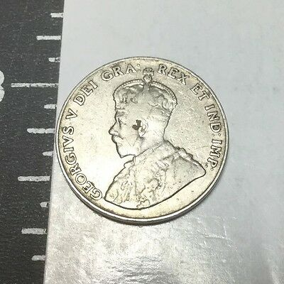 CANADA 1929 5 Cent coin Circulated