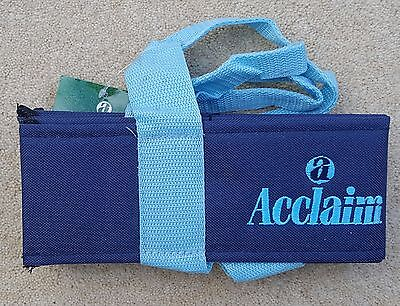 ACCLAIM Chatton Bowls Carrier Four Bowls Bowling Sling Navy Sky Blue Marked BB