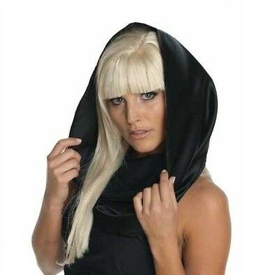 BRAND NEW, Lady Gaga Black Headscarf Womens Costume Scarf Officially Licensed