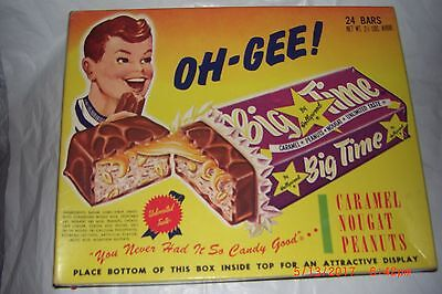 Vintage Advertising Candy Bar Box OH - GEE! Hollywood Brands Centralia IL