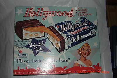 Vintage Advertising Candy Bar Box Hollywood Brands Centralia IL