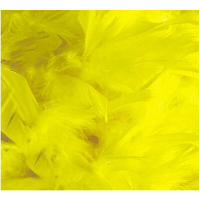 2M Feather Boa Strip Fluffy Craft Costume Fancy Dress Party Decoration Yellow