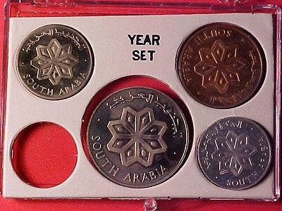 South Arabia 4-Coin Proof Set 1964 Toned (No Case)