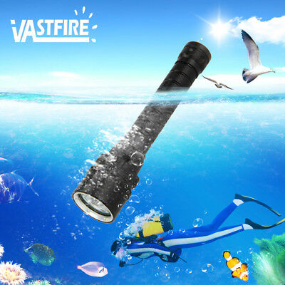 VASTFIRE 10000Lm 3xXM-T6 LED Diving Scuba Flashlight Fishing Torch 18650 Charger