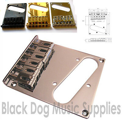 Modern guitar Telecaster Bridge chrome black gold BT001