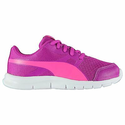 Puma Kids Flexracer Girls Trainers Runners Lace Up Shoes Running Cross Training