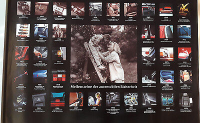 wonderful beauty-poster VOLVO-milestones of safety (1995)  - ltd.ed. - 70x100cm