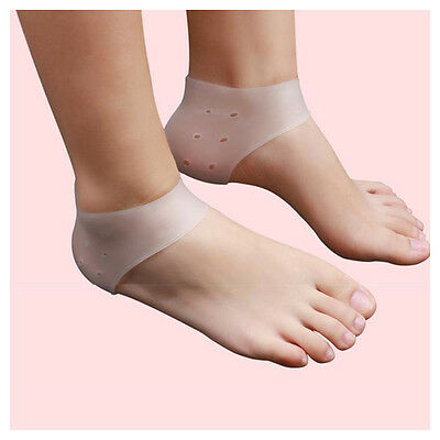 2Paire Silicone Protège Talon Soins Pied Gel Hydratant Chausette Protecteur NF