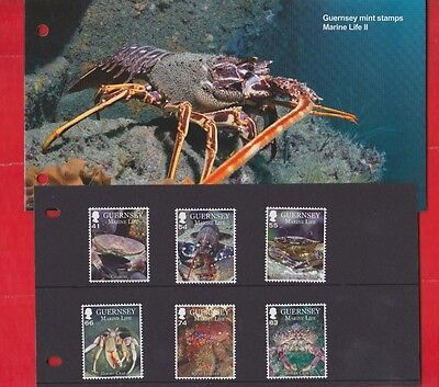 Guernsey, 30th July 2014, Marine life set of 6, Presentation pack.