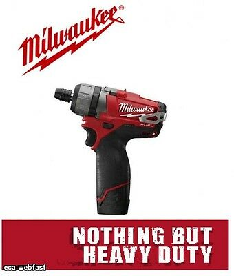 Milwaukee M12Cd-202C New 12V Fuel Drill Driver 2 X 2.0Ah Batteries Charger Case