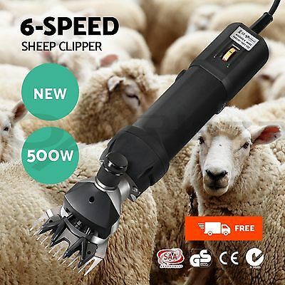 500W Electric Sheep Shearing Clipper Shear Goats Supplies Alpaca Farm Shears