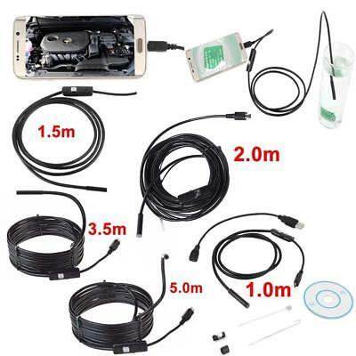 1M-5M 5.5mm Android Endoscope Waterproof Borescope Inspection Camera 6LED Cam SP