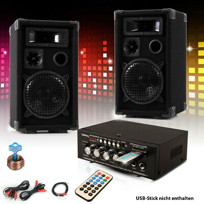 PA Party Kompakt Musik Anlage Boxen Verstärker USB MP3 SD Bluetooth DJ-Future