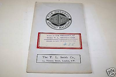 1910s SMITH CONCRETE ASPHALT catalog Milwaukee WI