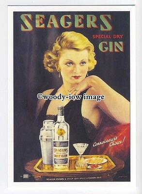 ad0782 - Seagers Gin - Connoisseur's Choice - Modern Advert Postcard