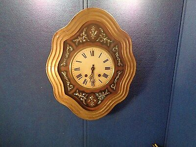 Antique French Napoleon III Clock with Mother of Pearl Inlay   *FOR RESTORATION*