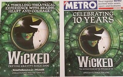 Wicked the Musical Metro Newspaper tenth anniversary special edition poster