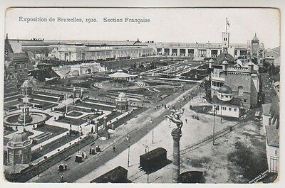 Bruxelles Exhibition 1910 postcard - Section Francaise