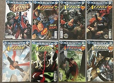 ACTION COMICS #957 - 978 & variants - DC Rebirth - 39 comics - complete run