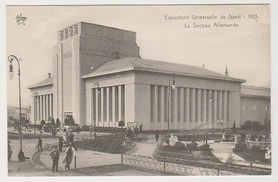 Gand Exhibition 1913 postcard - La Section Allemande