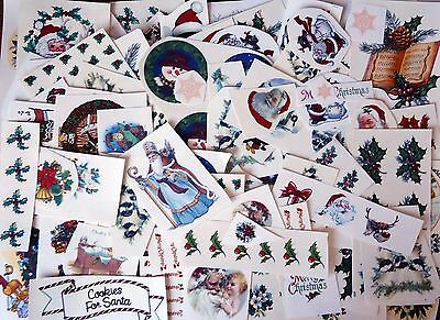 """Lot of 300+ Christmas Holiday 1/2"""" to 5-1/2""""  Waterslide Ceramic Decals Xx"""