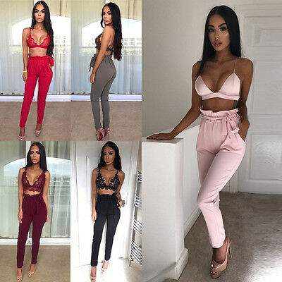 Women's Running Fashion Skinny High Waist Trousers Stretch Leggings Long Pants