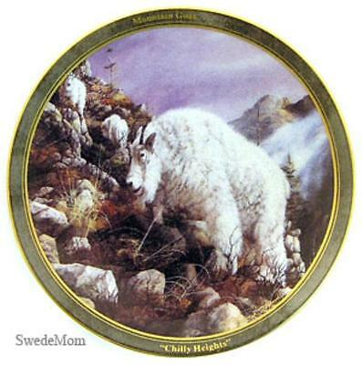 Swanson Wildlife Mountain Goat Chilly Heights Mini Plate Ornament Retired New