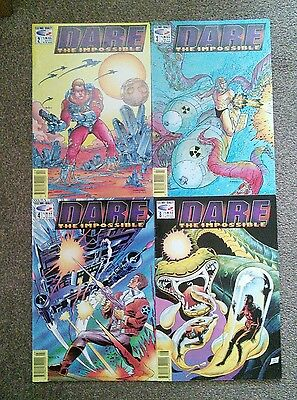 Dare the Impossible Fleetway Quality Comics 2000AD Issue 2,3,4,8 Job Lot bundle
