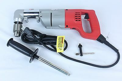 "Milwaukee 1107-1 Electric Corded Heavy Duty 1/2"" Right Angle Drill"