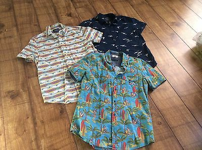 3 Mens Summer Shirts Topman/Next Size M