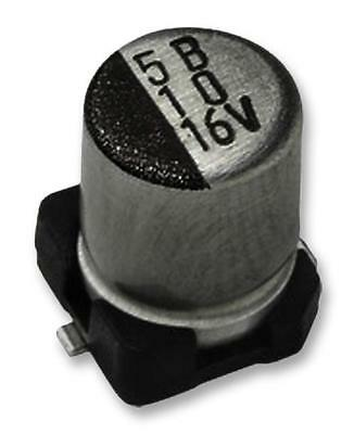 5 X SMD Aluminium Electrolytic Capacitor, Radial Can - SMD, 22 µF, 6.3 V, 8 ohm,