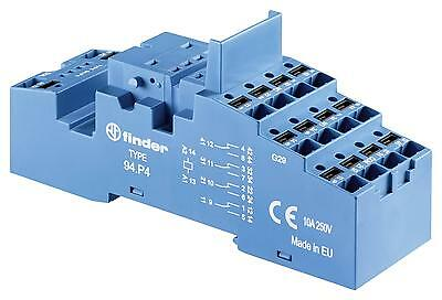 RELAY SOCKET DIN RAIL/PANEL 14PIN QC - 94P4SMA (Fnl)