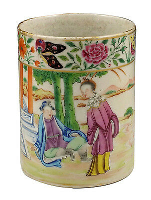 Wonderful L18thC Chinese Export Famille Rose Mug