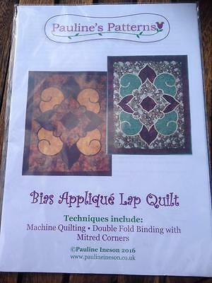 Pauline's Patterns Bias Applique Lap Quilt Machine Quilting