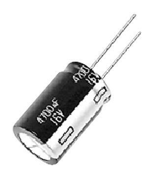 Electrolytic Capacitor, 6800 µF, 10 V, NHG Series, ± 20%, Radial Leaded, 16 mm