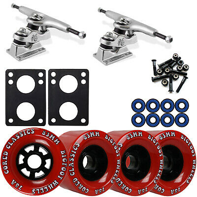Gullwing Sidewinder Longboard Trucks Wheels Pack Bigfoot 83mm Cored Classics Red