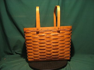 Longaberger...Large Twin Handled Adjustable Basket in Excellent Used Condition!!